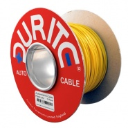 0-932-08 100m x 1.00mm² Yellow 16.5A Auto Single Core Cable