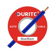 0-932-21 100m x 1.00mm² Blue-Black 16.5A Auto Single Core Cable
