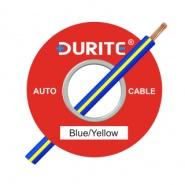 0-932-28 100m x 1.00mm² Blue-Yellow 16.5A Auto Single Core Cable