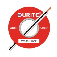 0-932-71 100m x 1.00mm² White-Black 16.5A Auto Single Core Cable