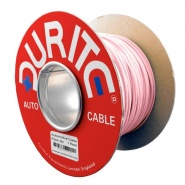 0-942-11 50m x 1.00mm² Pink 8.75A Auto Single Core Cable