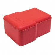 Red Rubber Battery Terminal Cover - Side Entry Terminals | Re: 1-558-99