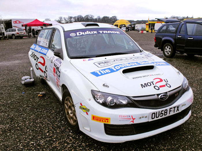 Adam Gould Dulux Trade British Rally Championship Driver Sponsored by The Toolbox Shop