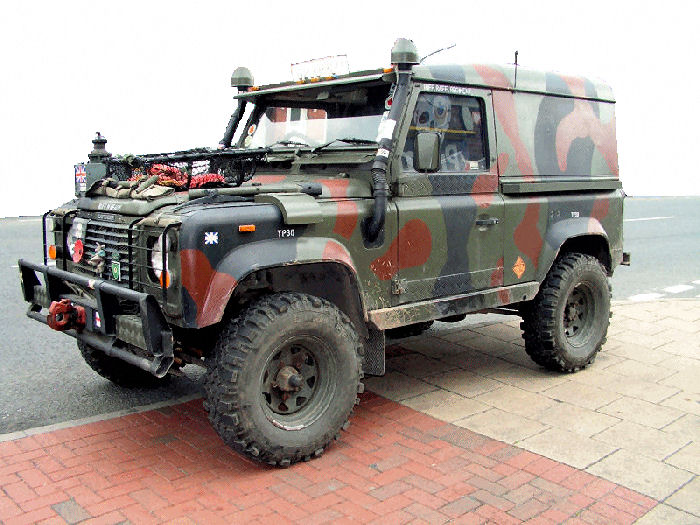 Army Styled Land Rover Defender